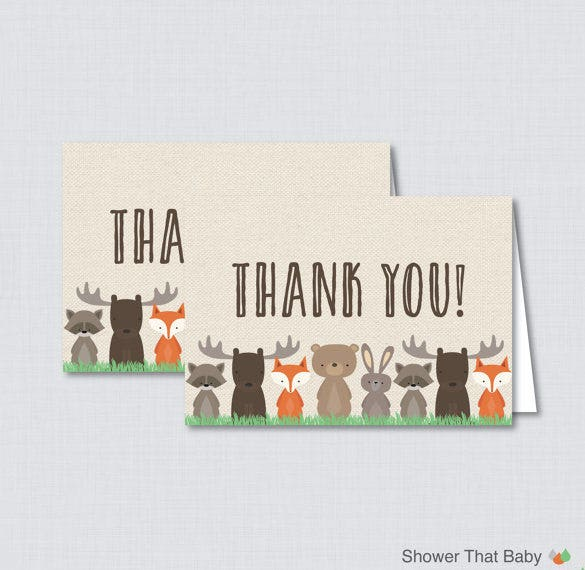 astonishing baby shower thank you card