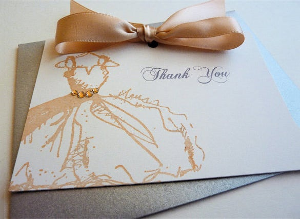 astonishing fashion thank you card