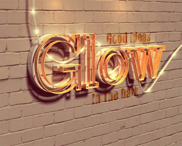 astonishing glowing 3d text effect tutorial