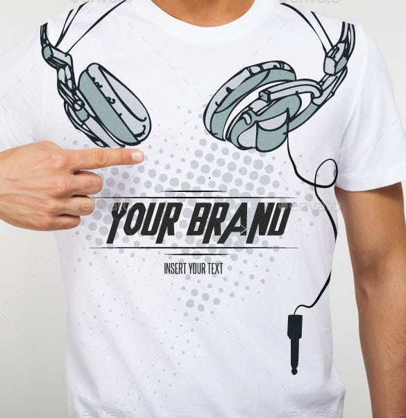 astonoshing dj headphones illustrator template
