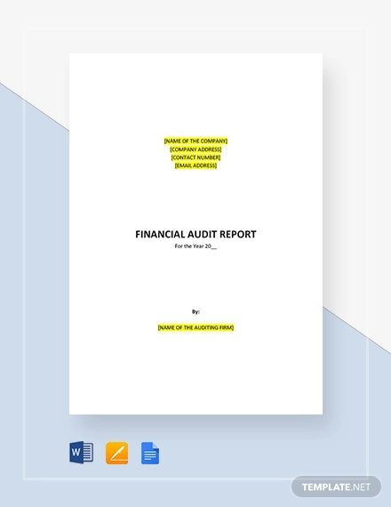 audit report financial