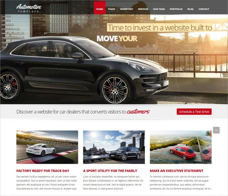 Automotive Car Dealership HTML5 Template