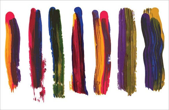 awesome coloured illustrator brush