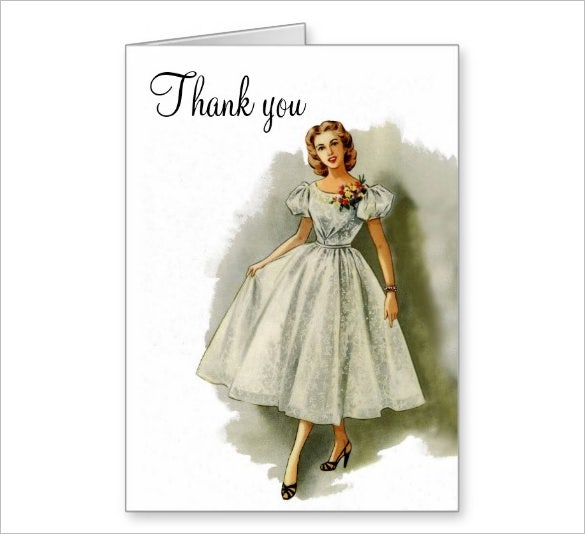 awesome fashion thank you card