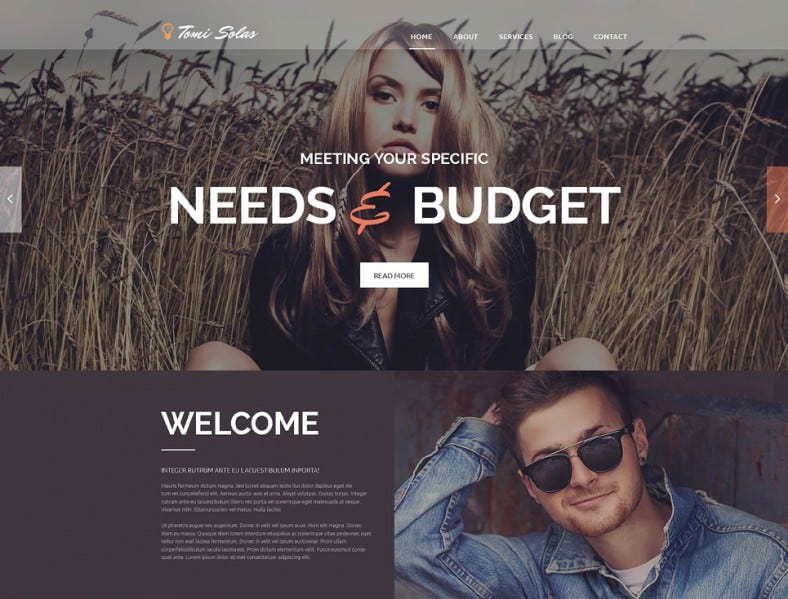 Awesome Photographer WordPress Template