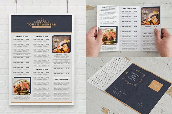 awesome restaurent menu illustrator template