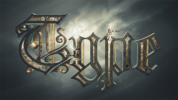 awesome steam powered 3d typography