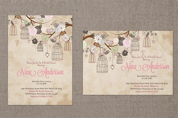 baby shower invitation card mockup download