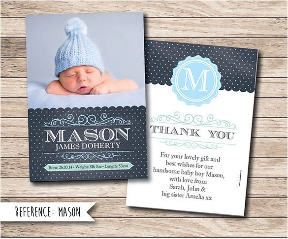 20 Baby Thank You Cards Free Printable Psd Eps