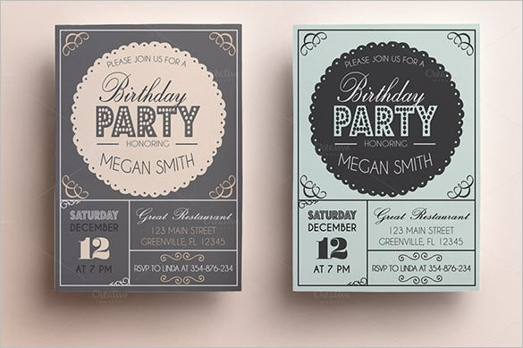 bachelorette birthday invitation card template