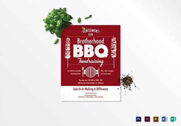 barbecue fundraising flyer template