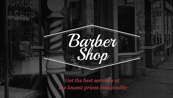 barber shop website templates
