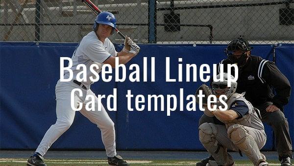 9 Baseball Line Up Card Templates Doc Pdf Psd Eps Free