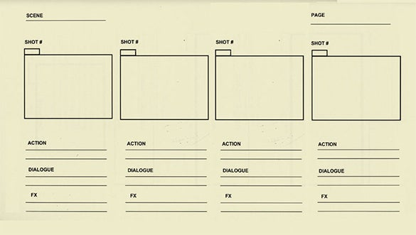 basic animation storyboard template free