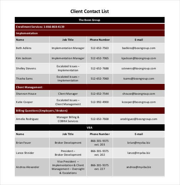 basic-client-contact-list