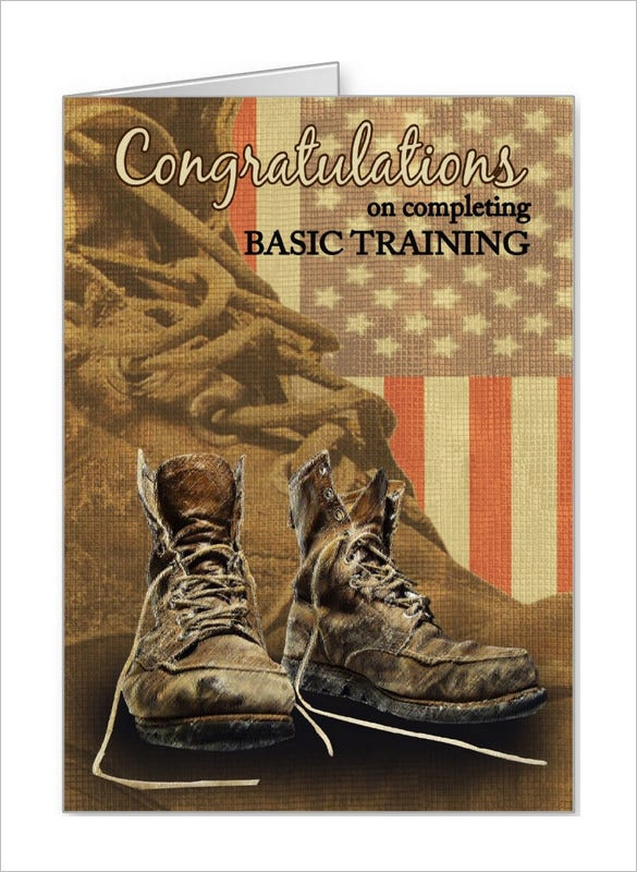 basic training congratulations card