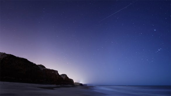 beach view star background for free