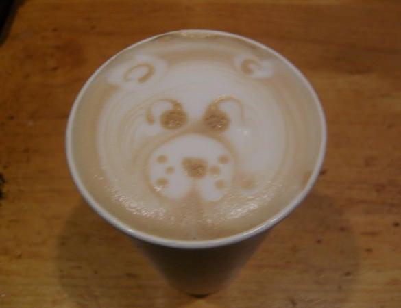 bear latte coffee design