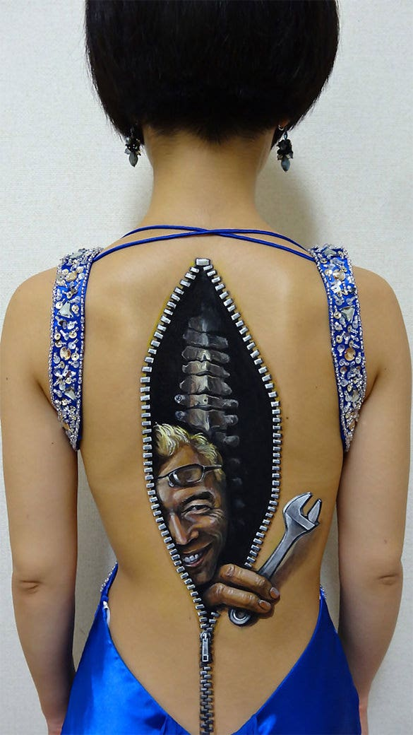 beautiful 3d body painting