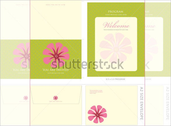beautiful a2 envelope template download