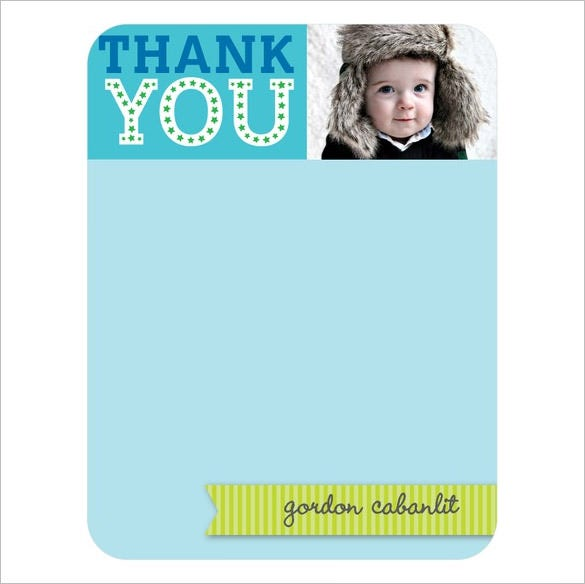 beautiful baby birthday blank thank you card