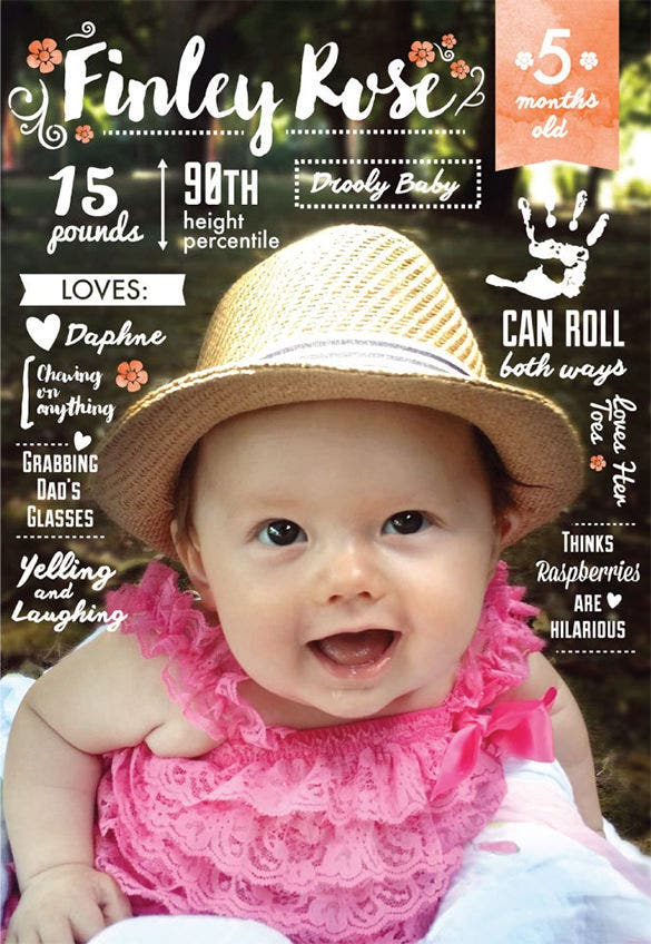 beautiful baby infographic design download