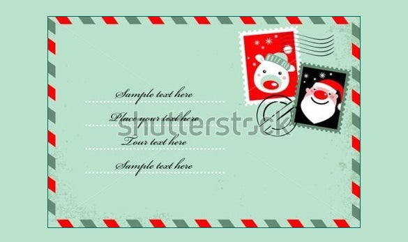 beautiful christmas envelope template download