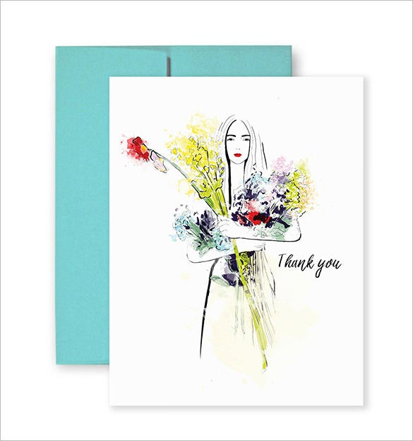 beautiful fashion thank you card