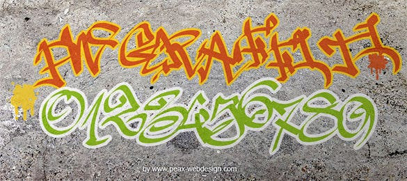 beautiful graffiti letter style template