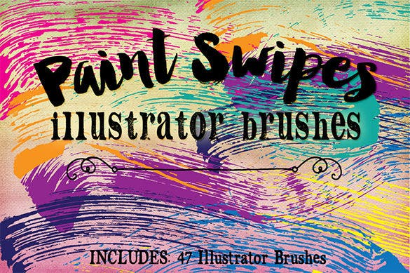 beautiful paint swipe illustrator brushes
