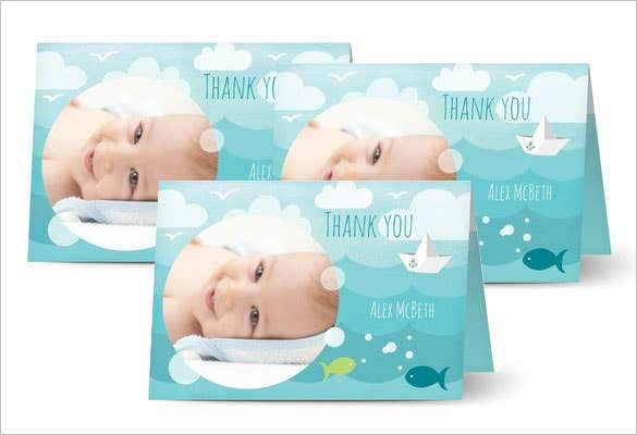beautifully designed baby thank you card