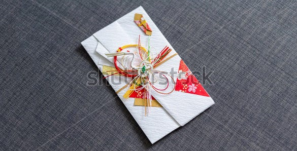 beautifully designed gift card envelope