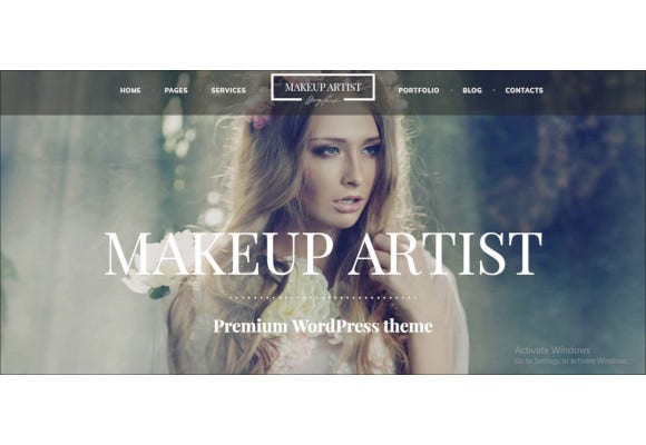 beauty and hair stylist wordpress theme