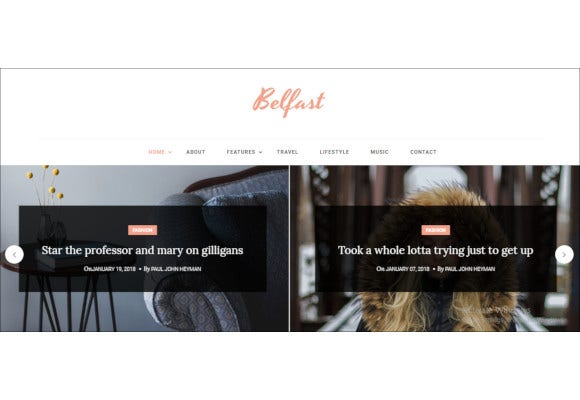 belfast blog html template