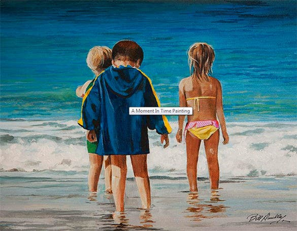 best 3d beach painting
