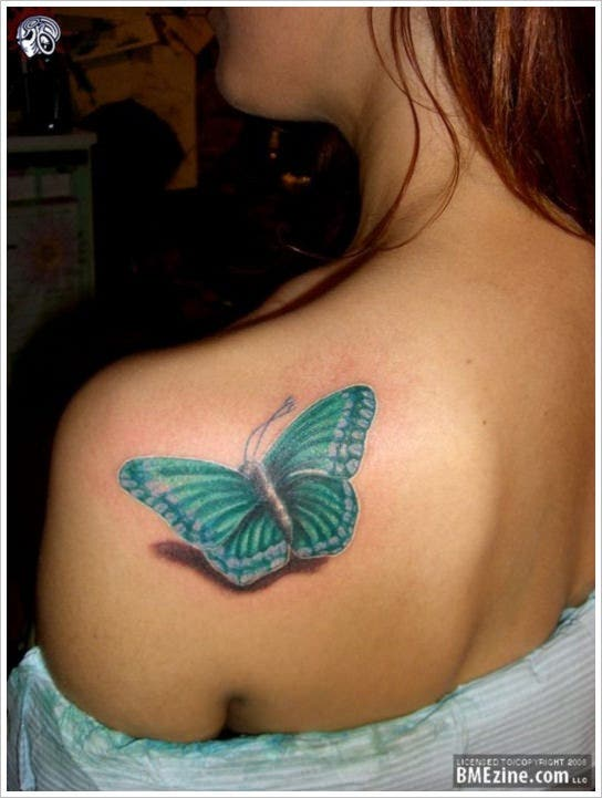 best 3d butterfly tattoo design