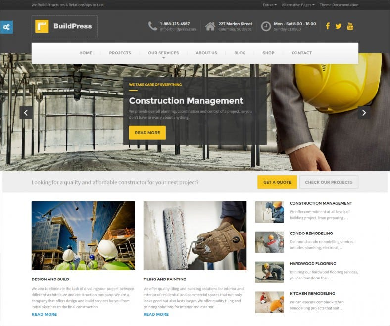 Best Construction Business WP Theme