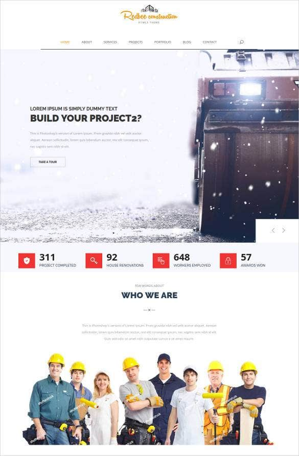 best-creative-construction-website-template