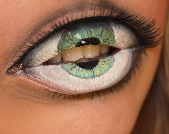 best eye 3d body painting
