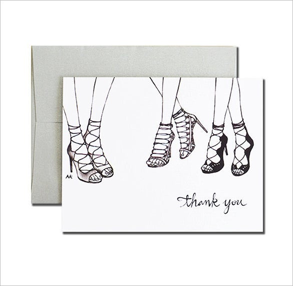 best fashion thank you card