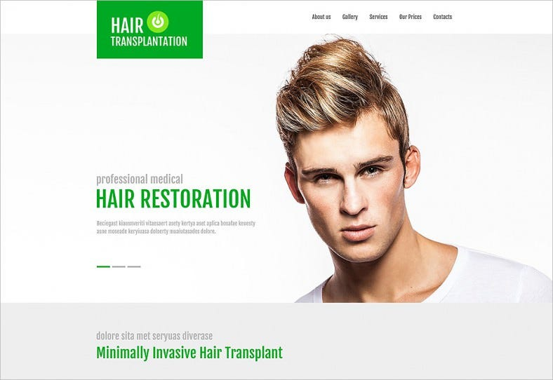 best hair transplant clinic jquery website template 788x542