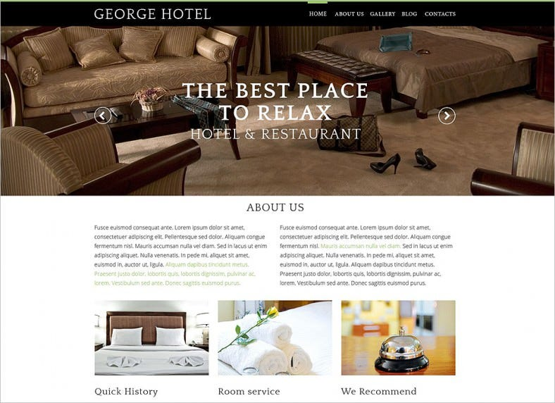 Best Hotels Drupal Responsive Template