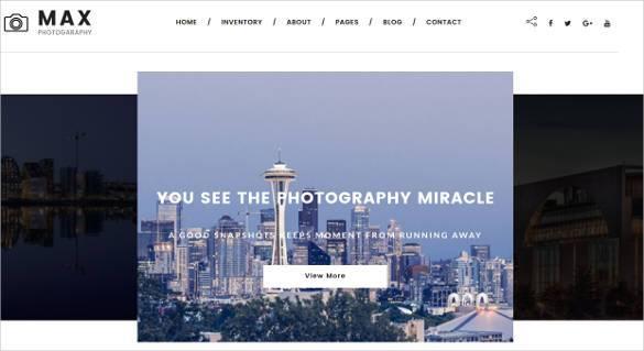 best photography website template1