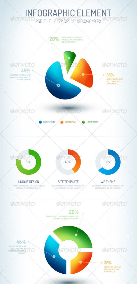 best premium infographic psd element