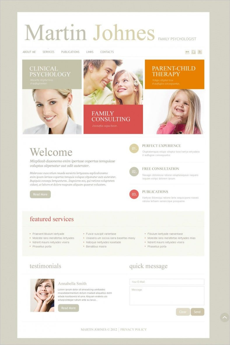 Best Psychologist Responsive Website Template