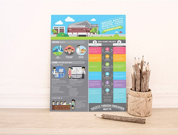 best school infographic design free download