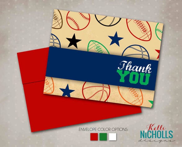 best sports thank you cards