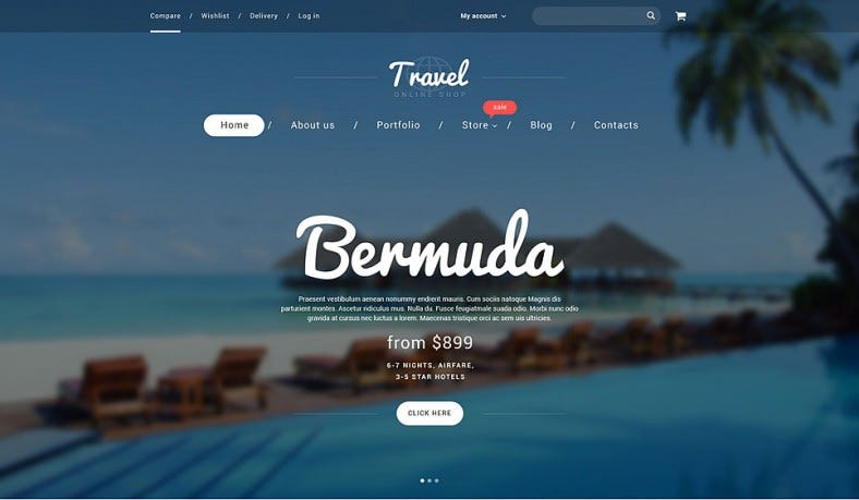 Best Travel Online Shop WooCommerce Template