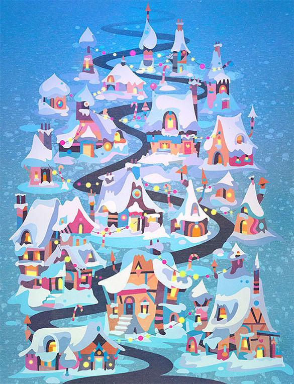 best winterland doodle art template