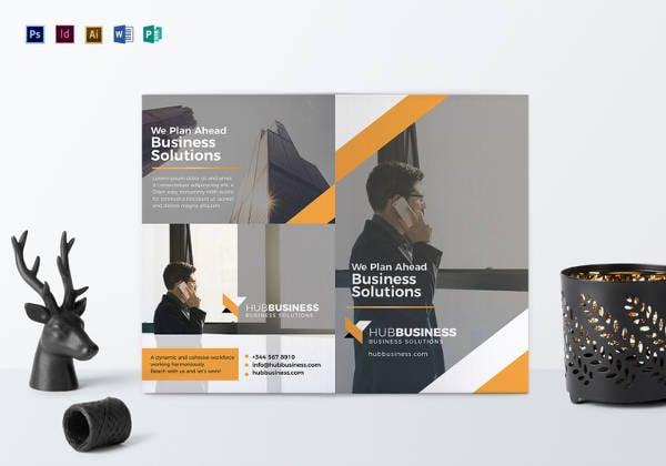 bi fold business brochure template